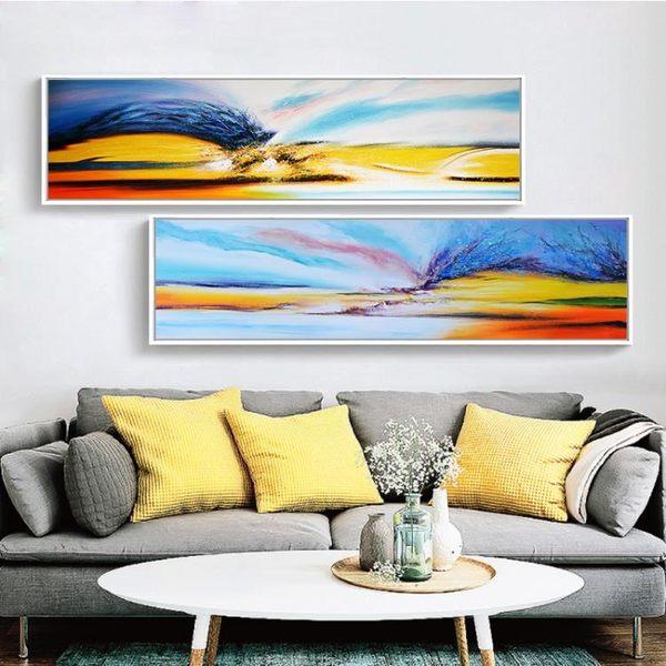 618好康又一發壁畫抽象畫現代簡約客廳酒店背景墻裝飾掛畫床頭畫臥室房間油畫WY