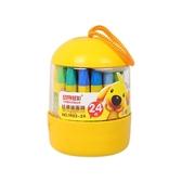 桶裝兒童蠟筆(24色)【小三美日】