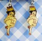 【震撼精品百貨】Betty Boop_貝蒂~造型耳環-撲克女郎