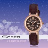 【人文行旅】Sheen   SHE-4029PGL-5AUDF 優雅迷人風采腕錶 SWAROVSKI