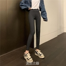 新款秋季韓版高腰修身打底褲女外穿緊身褲高腰褲子九分鉛筆褲 快速出貨
