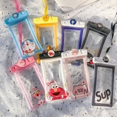 果凍卡通充氣手機防水袋密封觸屏拍照手機通用游泳氣囊掛繩潛水套 蘑菇街小屋