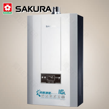 【買BETTER】櫻花熱水器/櫻花牌熱水器 DH1695四季溫渦輪增壓熱水器(16L)★送6期零利率