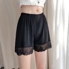 安全褲 安全褲女防走光夏季不卷邊蕾絲寬鬆居家短褲可外穿薄款三分打底褲-Ballet朵朵