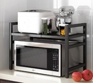 廚房微波爐置物架 微波爐烤箱架子家用雙層臺面桌面電飯鍋收納支架【快速出貨八折下殺】