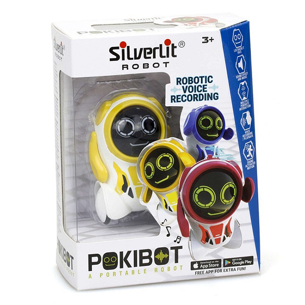Silverlit ROBOT 方程式口袋機器人 圓頭 (顏色隨機出貨) 【鯊玩具Toy Shark】
