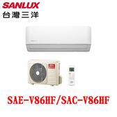 【SANLUX 台灣三洋】一對一變頻冷暖冷氣 SAE-V86HF SAC-V86HF