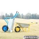 工具車 農用獨輪小推車單輪貨車推沙泥土花園垃圾建筑肥料工地手推車工具 風馳