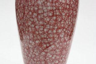 鈞瓷窯變花瓶歲歲平安(小)