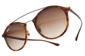 RAY BAN 太陽眼鏡 RB4266 620113 (琥珀銀-漸層棕鏡片) 時尚復古半圓框款 墨鏡 # 金橘眼鏡