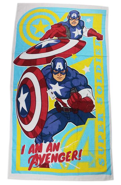 【卡漫城】美國隊長 浴巾 ㊣版 Captain America 100%純棉 76x140cm