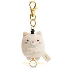 asdfkitty*日本san-x角落生物貓咪造型絨毛玩偶伸縮鑰匙圈/吊飾/掛飾-日本正版商品