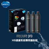 BRITA MYPURE PRO X6 超濾四階段過濾系統濾心組 0.1微米 中空絲膜 離子交換樹脂 ║ 碧藍水