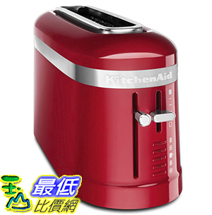 [8美國直購] 烤麵包機 KitchenAid KMT3115ER 2 Slice Long Slot High-Lift Lever Toaster, Empire Red