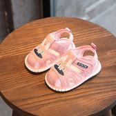 夏季0-1-3寶寶學步鞋男6-12月歲嬰兒軟底涼鞋女寶寶鞋布鞋叫叫鞋   初見居家