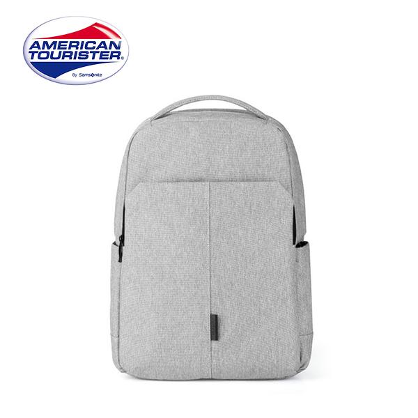 (5折) AT 美國旅行者【BOOM CLAP TF8】筆電後背包 多功能口袋 輕量 可插掛 暗袋設計 (淺灰)