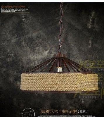 設計師美術精品館美式鄉村吊燈loft北歐複古創意田園服裝店咖啡廳麻繩吧台吊燈