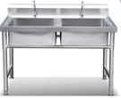 水槽不銹鋼單水槽雙槽帶支架商用洗碗洗菜盆池手工廚房水池大號池 LX 【99免運】