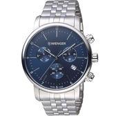 瑞士WENGER Urban 都會系列 經典極簡美學計時腕錶 01.1743.105