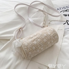 編織包 草編織洋氣斜背小包包女日系2021秋天韓版新款潮時尚仙女洋氣小包 愛丫