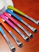 美國Boon雙頭勺寶寶兩用挖蘋果泥勺子硅膠輔食嬰兒刮蘋果泥兩頭勺