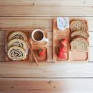 無漆無蠟天然實木分隔盤 櫸木下午茶托盤 寶寶分隔餐盤