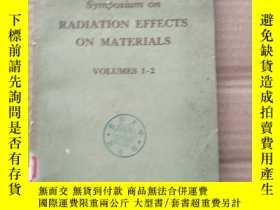 二手書博民逛書店symposium罕見on radiation effects on materials(P483)Y1734