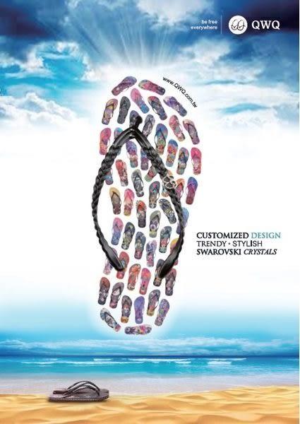 QWQ創意鞋- 璀璨面鑽 施華洛世奇水鑽夾腳人字拖鞋-俏麗粉 (璀璨晶鑽系列 )