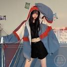 外套女 秋冬2020新款韓版INS港風寬鬆休閒炸街工裝棒球服兩面穿外套女潮【快速出貨】