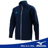 MIZUNO 美津濃 男用半長立領 保暖風衣外套slim fit 合身軟殼衣(深藍)2013新款。58JB-33014