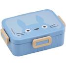 小禮堂 龍貓 日製 方形微波便當盒 抗菌便當盒 塑膠便當盒 650ml Ag+ (藍 大臉) 4973307-53108