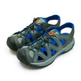 LIKA夢 LOTTO 專業排水護趾戶外運動涼鞋 涼夏玩樂系列 灰藍 0298 男