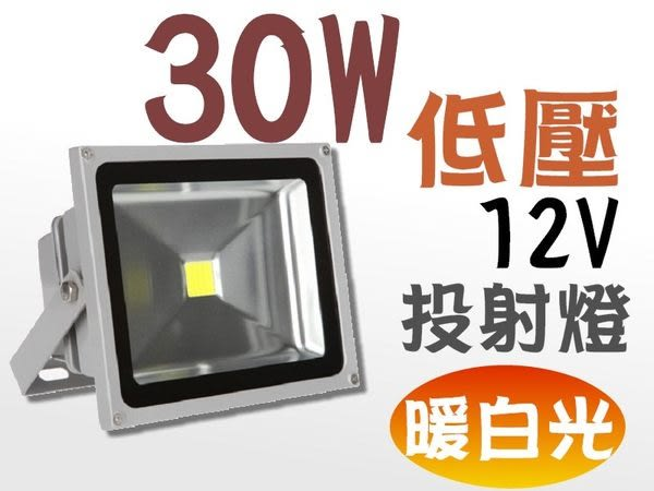 LED 投射燈 30W (暖白光/白光) 低壓 12V 戶外燈 / 庭院燈 / 廣告燈 燈具