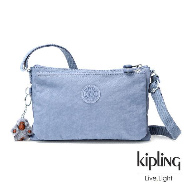 Kipling紫羅蘭灰素面側背包(小)