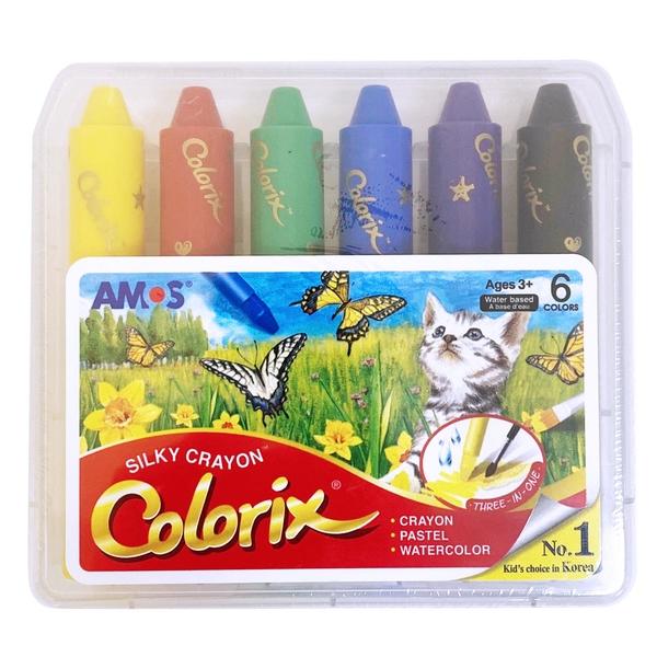 韓國 AMOS 6色粗款神奇水蠟筆