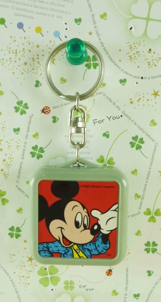 【震撼精品百貨】Micky Mouse_米奇/米妮 ~手電筒鑰匙圈-藍