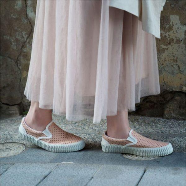 真皮洞洞鞋 餅乾鞋 懶人鞋 台灣製造 (粉橘) 贈廣富號製托特包