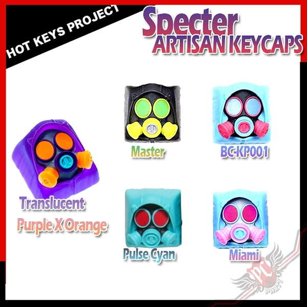 [ PC PARTY ] Hot Keys Project HKP Specter Artisan Keycaps 幽靈防毒面具 系列 鍵帽