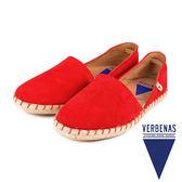 【VERBENAS】CALPE卡爾佩牛皮草編鞋/休閒鞋  紅色(058-OR)