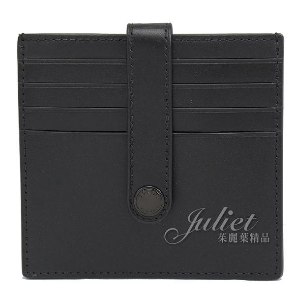茱麗葉精品【全新現貨】COACH C3162 壓印LOGO 牛皮信用卡名片夾.黑