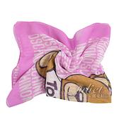 茱麗葉精品【全新現貨】MOSCHINO 03520 M1726 超大小熊印花絲巾.桃粉