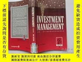 二手書博民逛書店Investment罕見management IN SINGAP