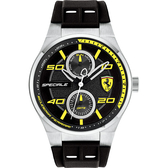 Scuderia Ferrari 法拉利 SPECIALE 日曆手錶-黑/44mm FA0830355