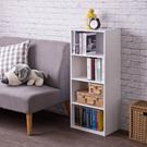 書櫃 收納櫃【收納屋】簡易四空櫃-白色&DIY組合傢俱