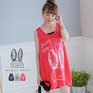 【MK0171】大耳兔兔休閒背心洋裝