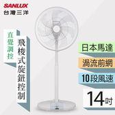 【台灣三洋 SANLUX】14吋DC變頻立扇(EF-P14DK)