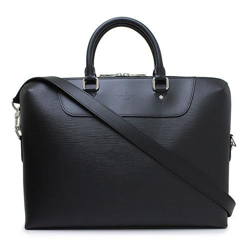 Louis Vuitton LV M50163 Porte Documents Jour EPI皮革附斜背帶手提公事包.黑 全新 預購【茱麗葉精品】
