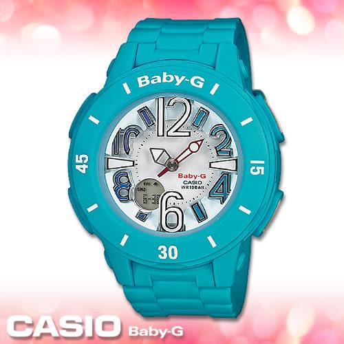 CASIO卡西歐 手錶專賣店 Baby-G BGA-170-2B DR 女錶 耀眼海洋風多層次 霓虹照明 防水100米 橡膠錶帶