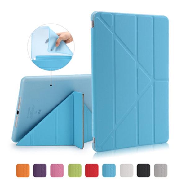 New iPad 9.7吋軟殼Y型三角折疊保護皮套-2017年版