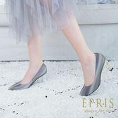 現貨 MIT特色女鞋推薦 星河女神 星河特殊面料方跟鞋 尖頭高跟鞋  21-25.5 EPRIS艾佩絲-銀河灰